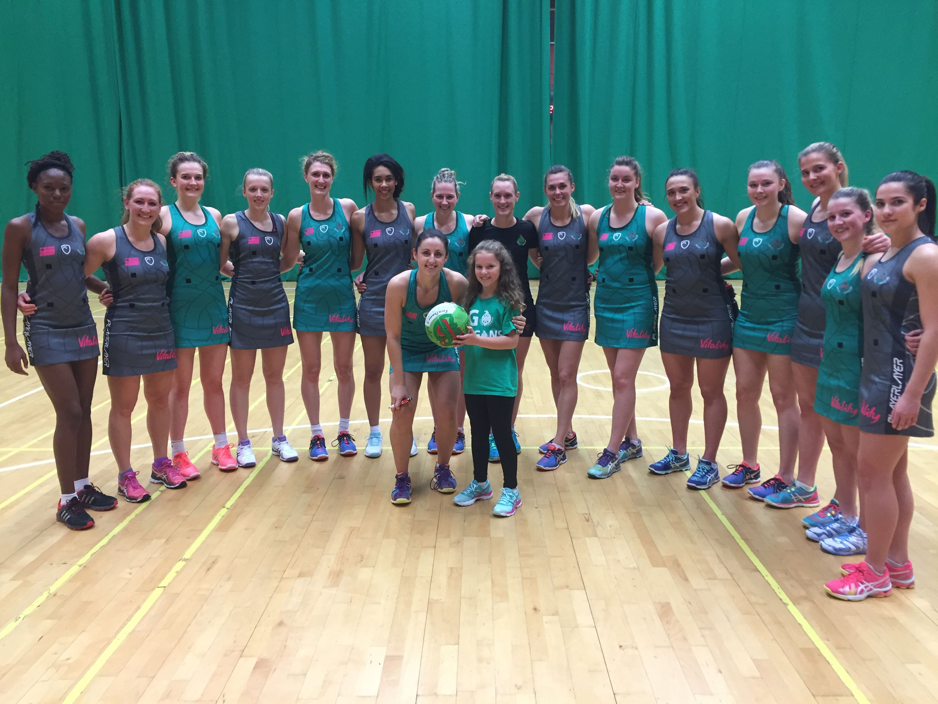 Celtic Dragons squad with Elen Govier