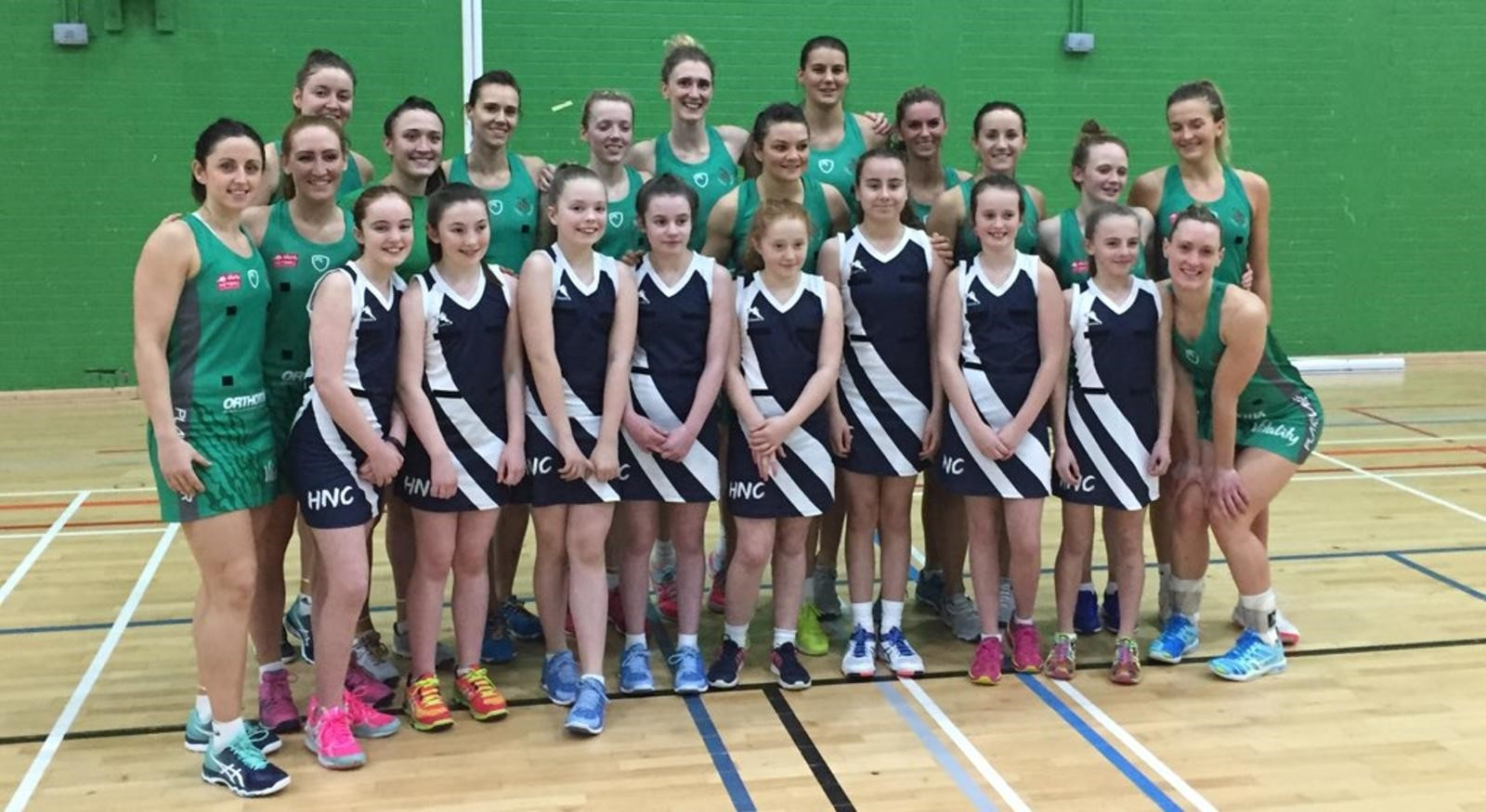 We were honoured to have Holywell Netball Club as ball girls for the match.
